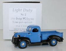SMTS 1/43 LIGHT DUTY - 1946 DODGE WC EXPRESS 1/2 TON PICK UP TRUCK BLUE & BLACK