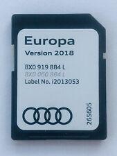 GENUINE AUDI SAT NAV RMC NAVIGATION SD CARD 2018 MAP EUROPE UK 8X0919884L
