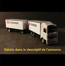 Camion Miniature 7,5T et Remorque DB SCHENKER 1/87 HO