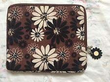 VTG 70s Twiggy Floral Abstract Cushion Padded 13/14 Inch Sleeve Laptop Case