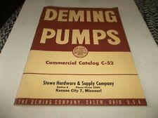 Vtg 1952 Stowe Hardware  & Supply Co Illustrated Catalog, No C-52 - Deming Pumps