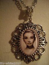 Audrey Hepburn Necklace, Cameo Necklace, Dangle Necklace REDUCED TO CLEAR STOCK