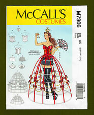 McCalls Sewing Pattern 7306~Corset, Hoop Skirts~Cosplay~Cup Sizes A-D (6-14)