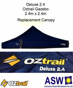 2.4m x 2.4m BLUE Gazebo Replacement Canopy Roof suits OZTRAIL DELUXE 2.4 Frame