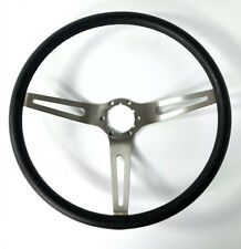 Black 3 Spoke Steering Wheel For 1969-72 Chevy Chevelle, Nova, Camaro, & Impala