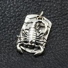 Silver Pendants Scorpion Rock Jewelry Men's Real Solid 925 Sterling