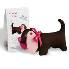 COCO DAX - feutre teckel chien Kit de couture pour âge 8 + CLARA + signet gratuit