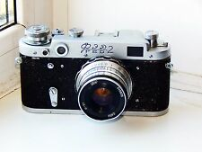 FED-2 35mm Soviet Rangefinder Film Camera (copy Leica) w/s lens industar-61 EXC