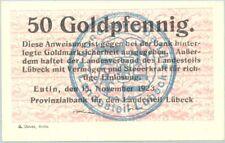 Lübeck - Eutin 50 goldpfennig 1923 UNC