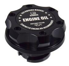 Black Oil Cap Filler Racing Anodized Black Engine Oil Emblem For LS1 LS2 LS3 LS6