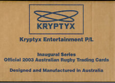 FACTORY CASE!! Kryptyx 2003 Australia Rugby Union Card Case (12 Boxes+Case Card)