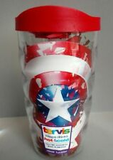Tervis Captain America 10 oz Tumbler Plastic Cup Red Lid USA Hot Cold