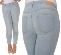 Wrangler Damen Jeanshose Body Bespoke Crop Skinny Blau (Stayin' Light) W24 - W32