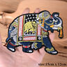 1 Pair Elephant Embroidery Sew Iron On Patch Badge Clothes Applique Craft DIY