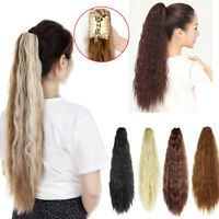 Kinky Wavy Claw Ponytail Thick Lady Claw Clip on in Pony Tail Hair Extensions