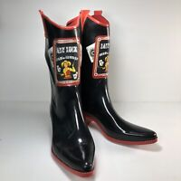 Lady Luck Read'em & Weep Holding All The Cards Aces Are Loaded Womens Boots Sz 9