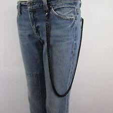 Men Heavy Black Metal Extra Long Trucker Jeans Bicker Wallet Chain Link KeyChain