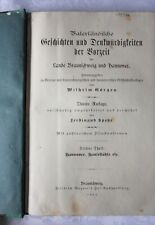Görges, Vaterländische Geschichten, 3. Teil HANNOVER, Hansestädte, 1881