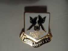 FOOTBALL BADGE NOTTS COUNTY FOUNDED 1862  F.C.GILT  BROOCH  PIN FITTING