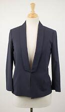 NWT BRUNELLO CUCINELLI Woman's Blue Wool Blend Blazer Jacket Size 42/6 $2540