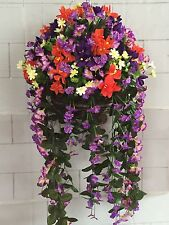 New Stunning Large Artificial Hanging Basket