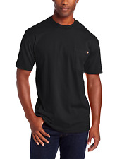 Dickies Men's Big-Tall T-Shirt Short Sleeve Tee 100% Cotton Front Pocket Black
