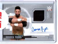 WWE Darren Young 2017 Topps Undisputed Silver Autograph Relic Card SN 17 of 50