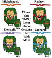 Adult TMNT Teenage Mutant Ninja Turtles Raph Leo Mike Don Costume Long T-Shirt