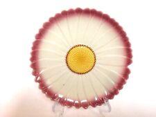 "Vintage Au Bain Marie French Flower Majolica Plate 7.5"""