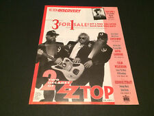 ZZ TOP THE CURE LYNCH MOB BMG DIRECT CD CLUB USA MAIL ORDER CATALOG 1992