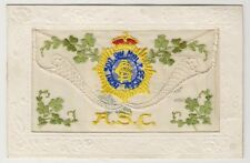 More details for greetings / silk postcard - asc - army service corps (a15)