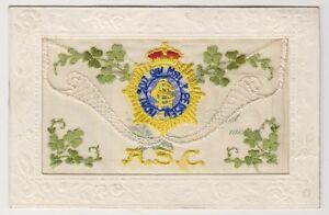 Grüße / Seide Postkarte - Asc - Armee Service Corps (A15)
