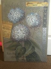Joan Cole Floral Design canvas home Interiors Original Hydrangea Flowers Art