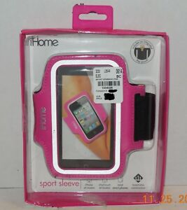 ihome Pink Sports Sleeve For Iphone Ipod and most Smart phones