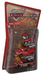 Disney Cars Movie Team No Stall Roman Dunes & Shirley Spinout Toy Car Set Gift
