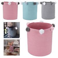 Foldable Pompom Laundry Washing Clothes Storage Toy Hamper Basket Bin Practical