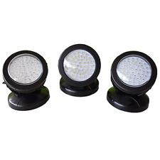 Garden Pond LED Lighting Fountain Pool Spot Light Underwater - 3 Lights 48 LEDs