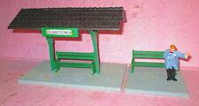 Piko Pola Rural TRAIN PLATFORM w/Benches & Figure for LGB G & #1 Scale Trains