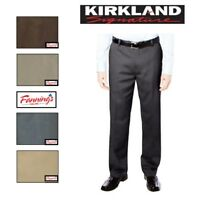 SALE Men's Kirkland Signature Non Iron Classic Comfort Fit Dress Pants VARIETY!
