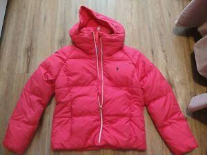 RALPH LAUREN POLO Girls Pink Puffer Coat Bubble Jacket Size Large  (12-14)