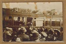 Carte Photo vintage card RPPC train en gare wagon sud de la France ? kh0363