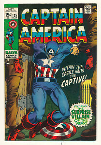 Marvel Captain America Issue #125 Comic Captured in Vietnam Mandarin App 6.5 FN+