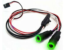 LED Angel Eyes RC Car or Drone Lights with switch (GREEN)
