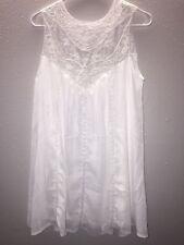 NWOT- Leo Rosi Hanna Women's Sheer w/Bra (tube) Lace Dress- White - Size Small