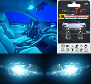 Canbus Error LED Light 194 Icy Blue 8000K Two Bulbs Interior Dome Replace Lamp
