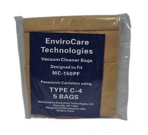 Envirocare Vacuum Bags Designed To Fit Panasonic Type C-4 Canister Vacuum 148