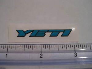 Blue YETI CYCLES MTB BICYCLES BIKE FRAME STICKER DECAL