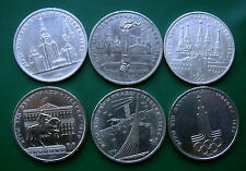 RUSSIA  OLYMPIC GAMES  1 ROUBLE  FULL COIN  SET  MOSCOW 1980 OLIMPIC