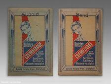 - 2 x Packungen/Tüten Holstes CREMEFARBE um 1920 -