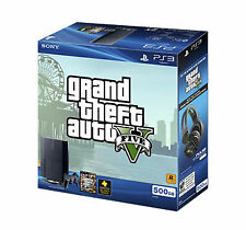 SONY PlayStation 3 500GB Grand Theft Auto V Bundle - New w/ Stand